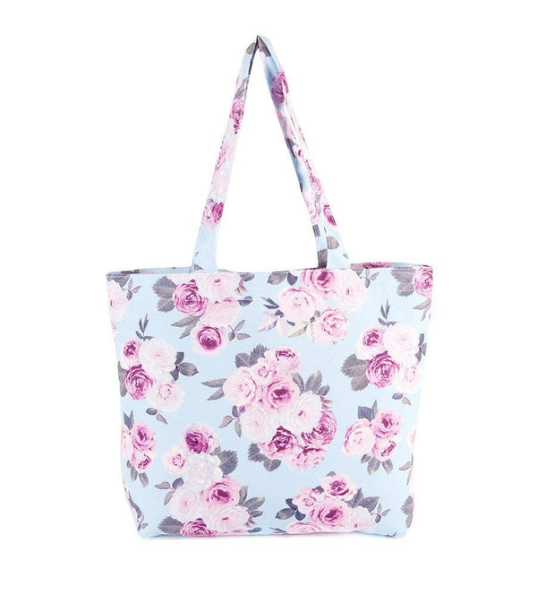 Icy Rose Canvas Snap Closure Tote Bag - Magnolia Lounge