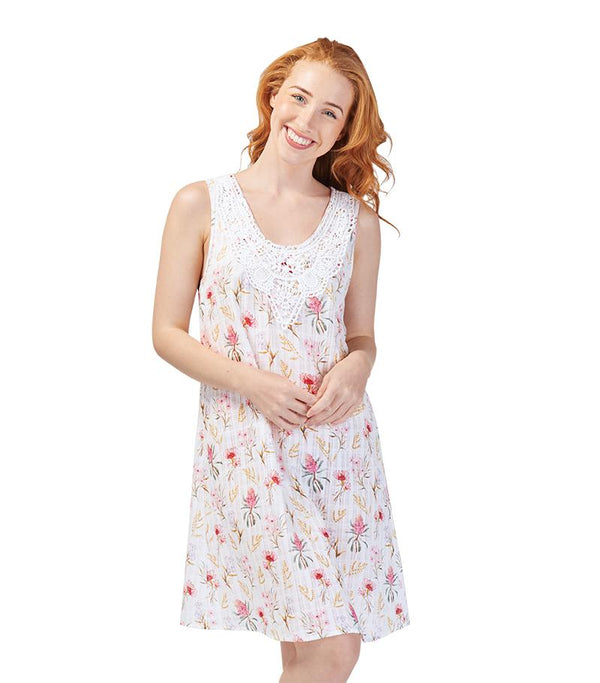 Nighties - Ladies Cotton Australiana Nightie