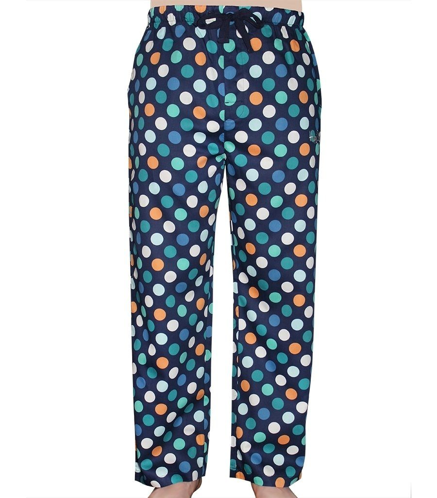 Happy Socks Men's Cotton Sateen Pyjama Pants - Dots - Magnolia Lounge