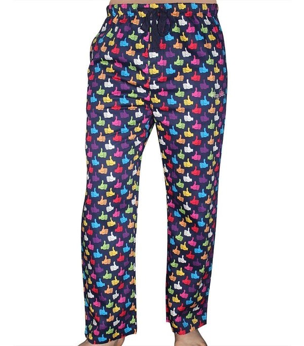 Happy Socks Men's Cotton Sateen Pyjama Pants - Thumbs Up - Magnolia Lounge