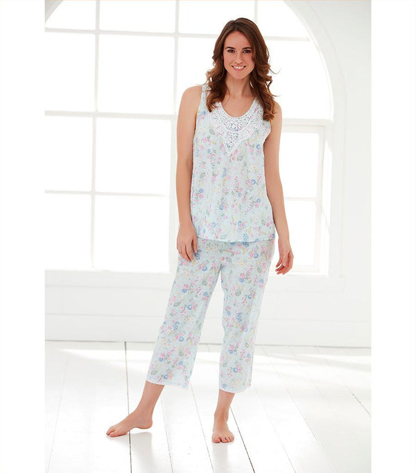 Ladies Ditsy Floral Ladies 3/4 Sleep Pant - Magnolia Lounge
