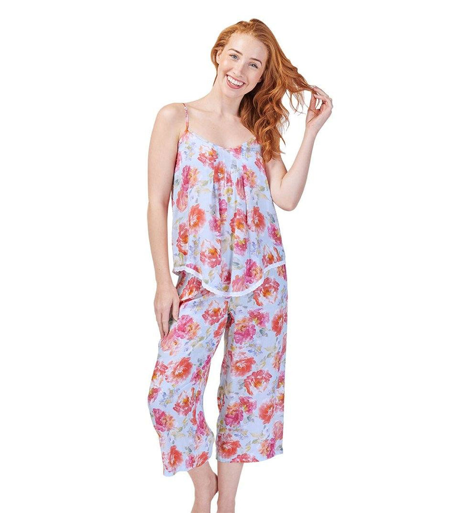 Pants - Ladies English Rose 3/4 Sleep Pyjama Pant
