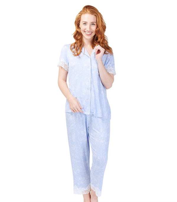 PJ Sets - Ladies Botanical Studies Pyjama Set
