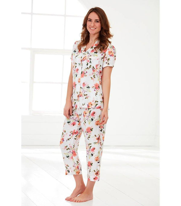 Ladies Peony Sunrise Pyjama Set - Magnolia Lounge