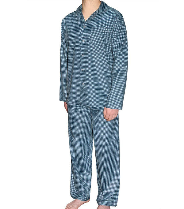 PJ Sets - Mens Tile Geo Flannelette Pyjama Set
