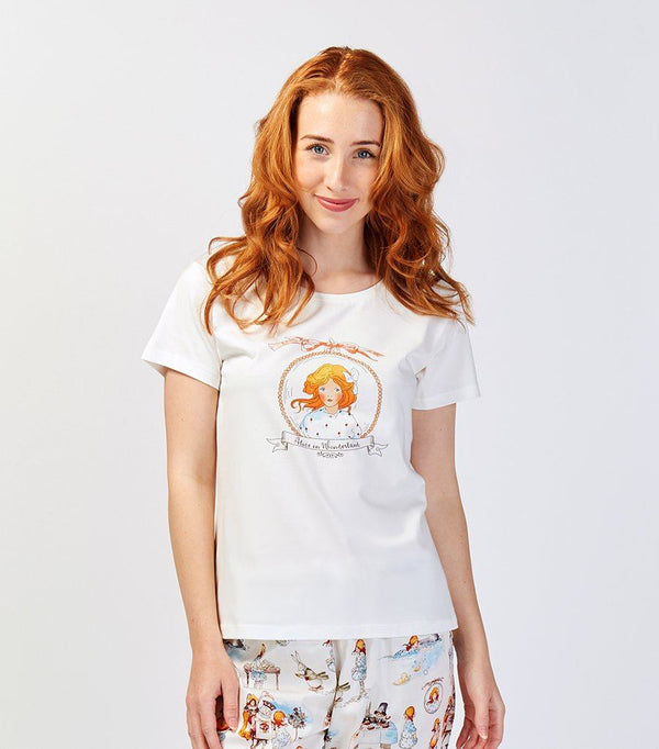 Alice in Wonderland Ladies Cotton T-Shirt - Magnolia Lounge