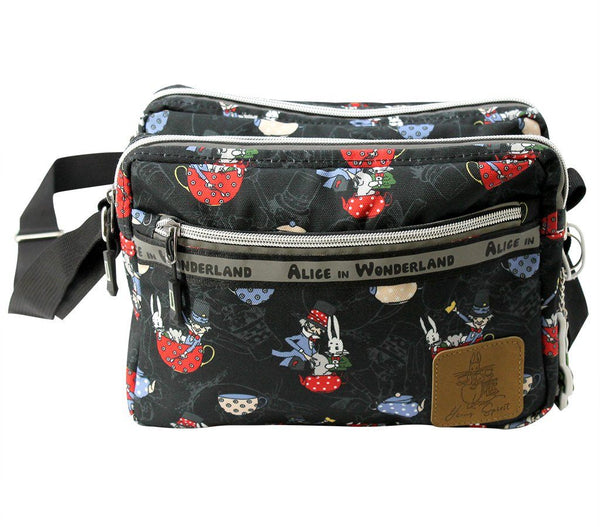 Travel Bag - Alice In Wonderland Canvas Crossbody Shoulder Bag - The Mad Hatter | Young Spirit Australia