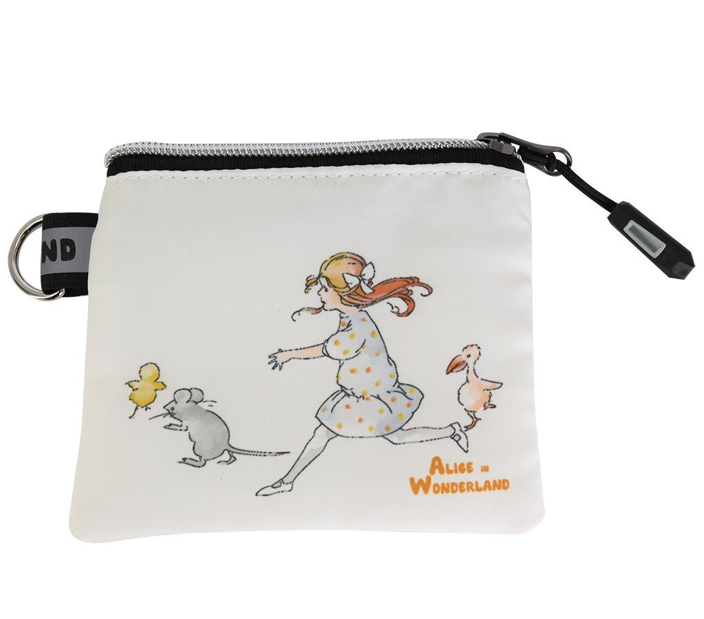 Travel Bag - Alice In Wonderland Coin & Jewellery Purse - Alice With Friends  | Young Spirit Australia