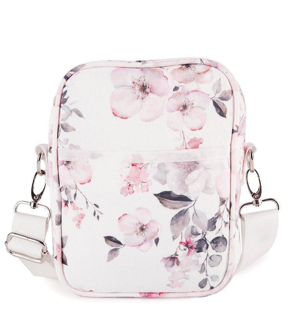 Water Floral Canvas Cross Body Travel Bag - Magnolia Lounge