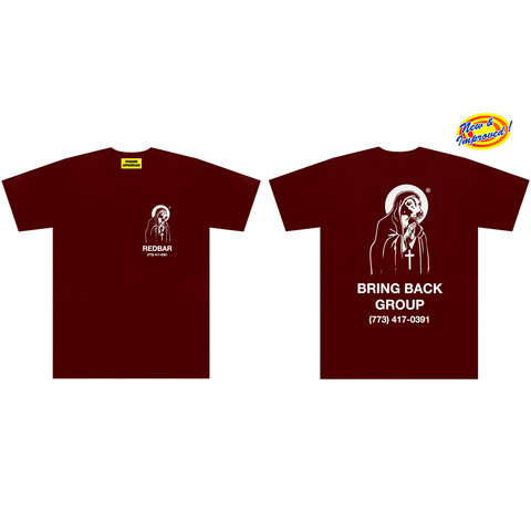 REDBAR HELPLINE T-SHIRT (2019 VERSION) (WINE)