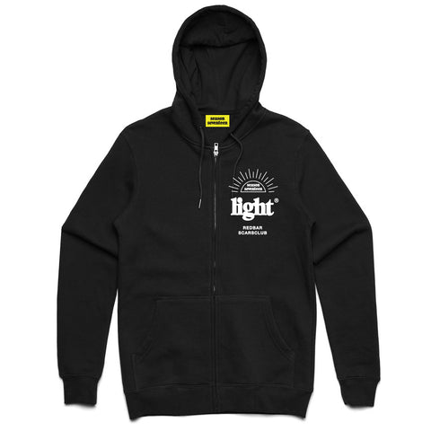 REDBAR EMBROIDERED ZIP HOODIE (BLACK)