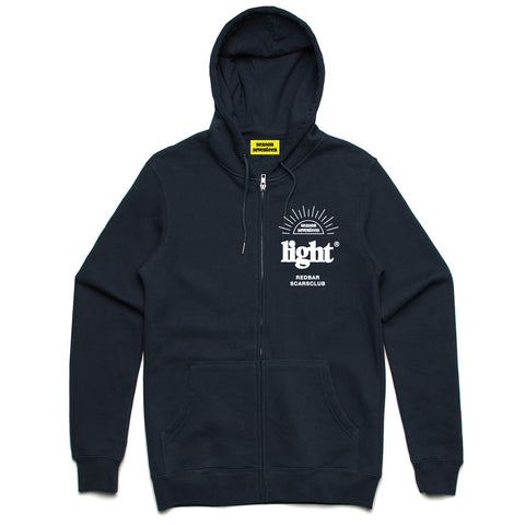 REDBAR EMBROIDERED ZIP HOODIE (NAVY)