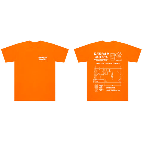 REDBAR MOTEL T-SHIRT (ORANGE)