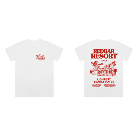 REDBAR RESORT T-SHIRT (WHITE)