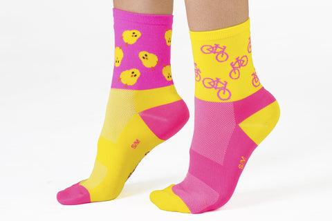 """Cycling Chicks"" Cycling Socks"