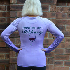 """Wine Me Up"" Long Sleeve Shirt"