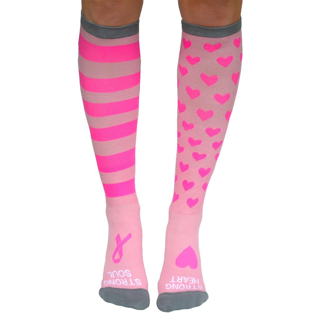 Breast Cancer Compression Socks