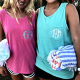 Embellish Monogram Tank in Pigment Dyed Colors
