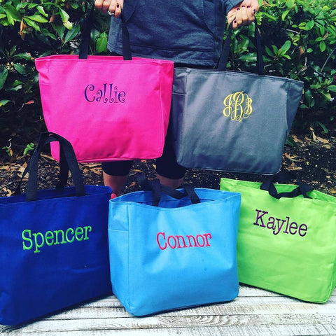 Embellish TWO CUSTOM Personalized Tote Bags