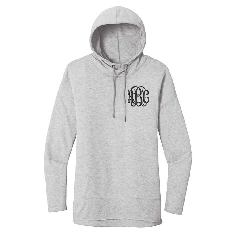 Embellish Lightweight French Terry Pullover Monogram Hoodie
