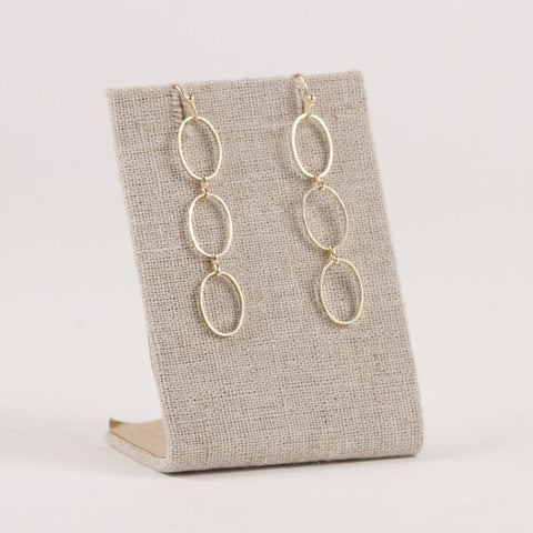 Delicate Gold Chain Link Earring