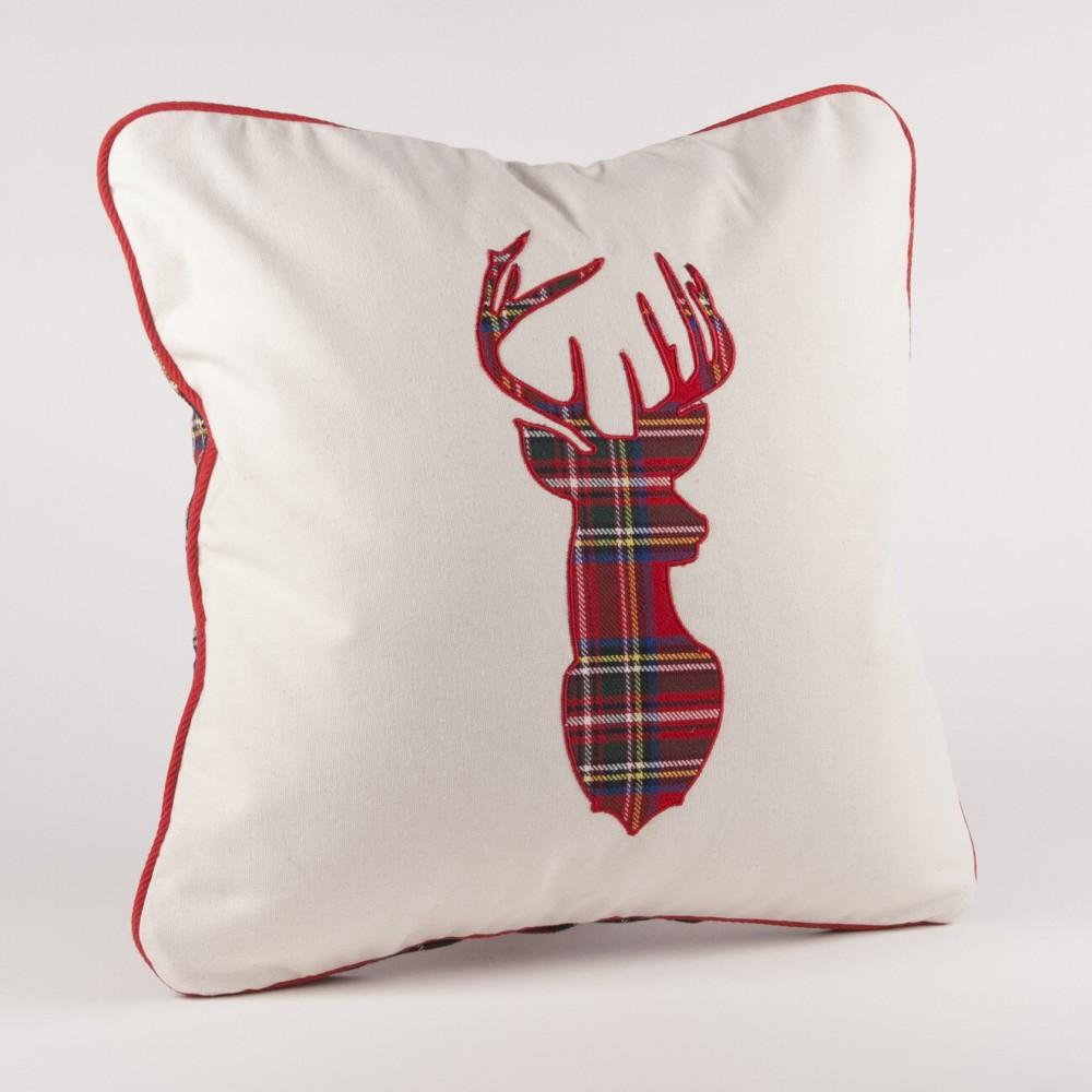 Plaid Reindeer Pillow Covers | FREE SHIPPING