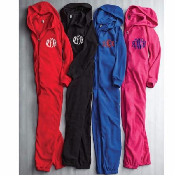 Fun Fleece Hooded Full Zip Body Suit