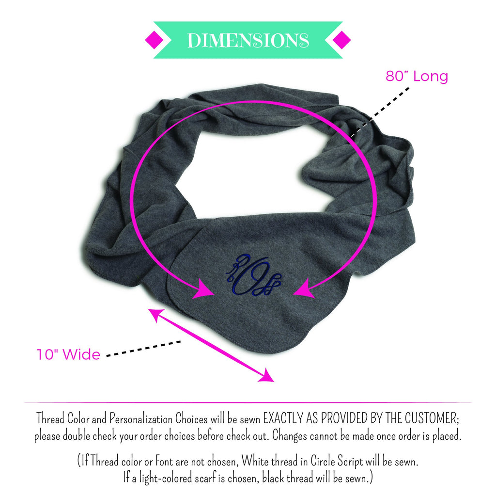 Embellish Custom Personalized Monogram Scarf