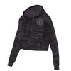 Embellish VIP Black Camo Cropped Fleece Hoodie | Monogrammed