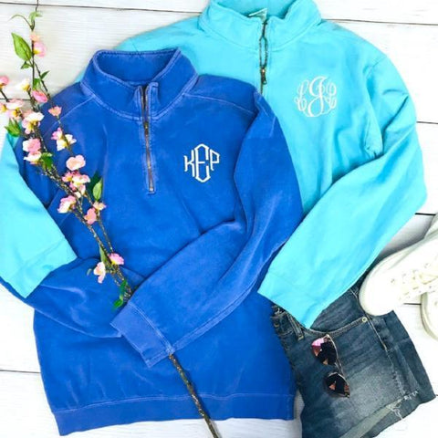 6499df41c Embellish Pigment Dyed Beach 1/4 Zip Pullover | Personalized