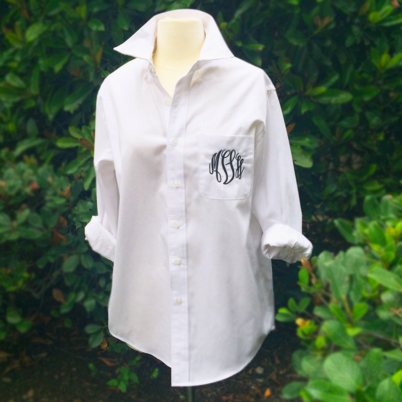 Embellish Classic Monogram Boyfriend Shirt in 8 Colors | Personalized