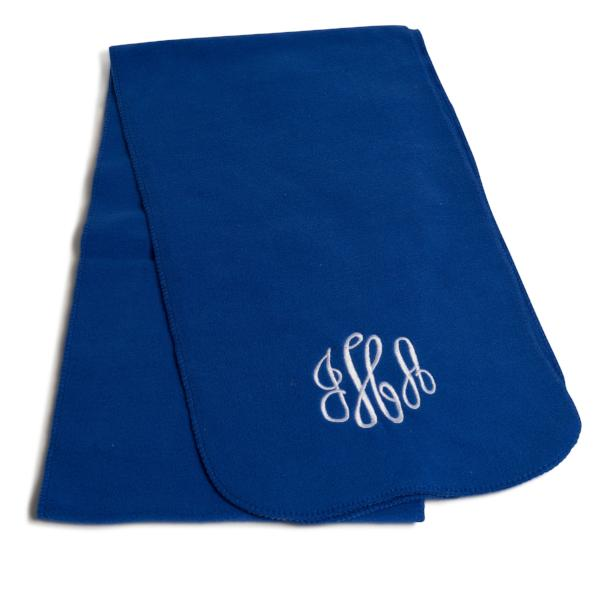 Embellish Polar Fleece Scarf in Five Colors | Monogrammed