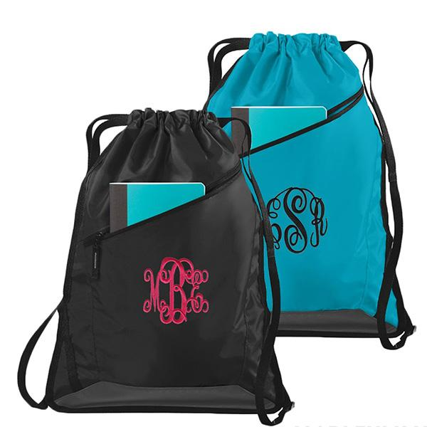 Embellish Every Day Cinch Back Pack I Monogrammed