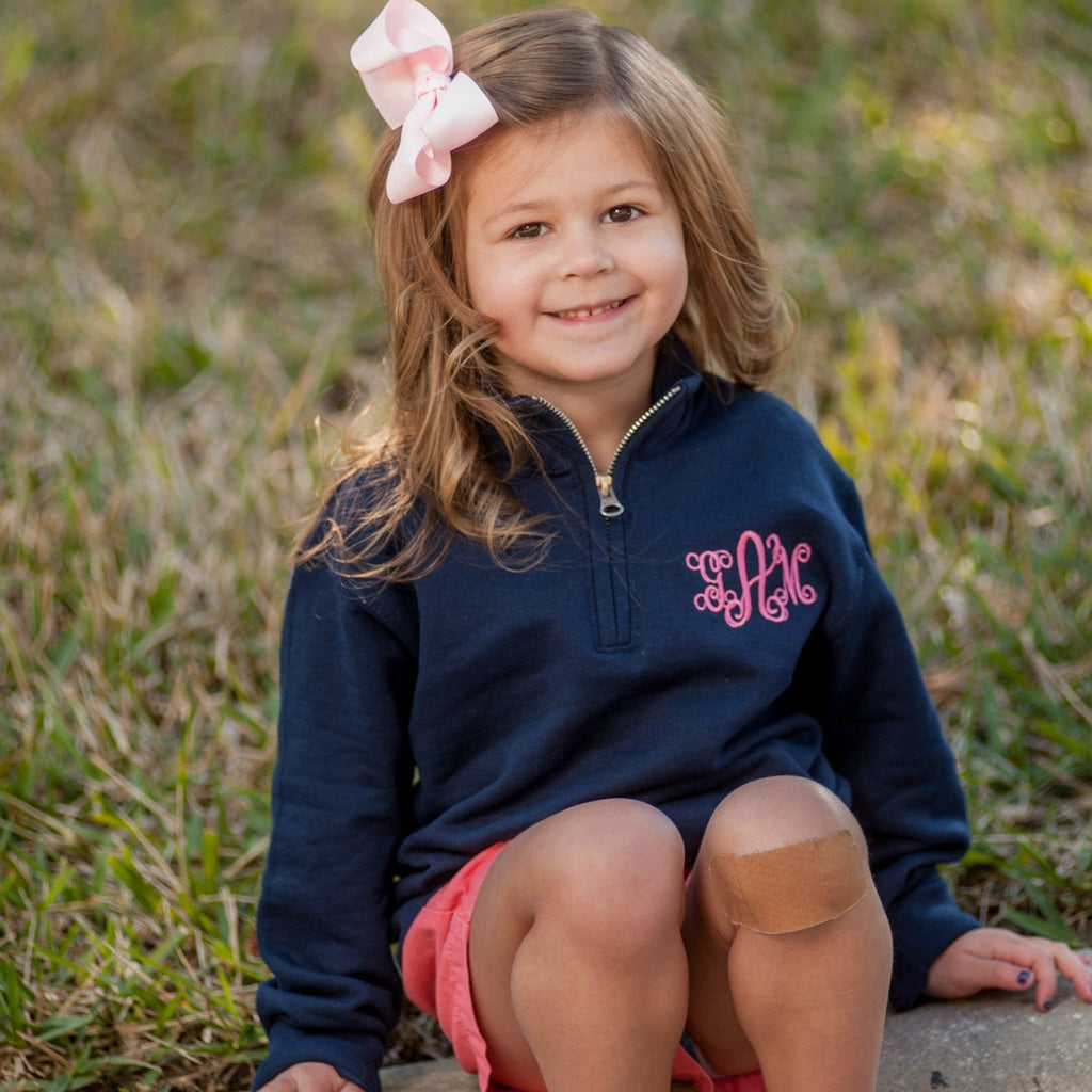 Embellish YOUTH Classic 1/4 Zip Sweatshirt  Pullover | Monogrammed