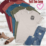 Embellish Fall Short Sleeve Tee | Monogrammed