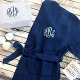 Preppy Seersucker Carry-All Zipper Bag | Monogrammed.