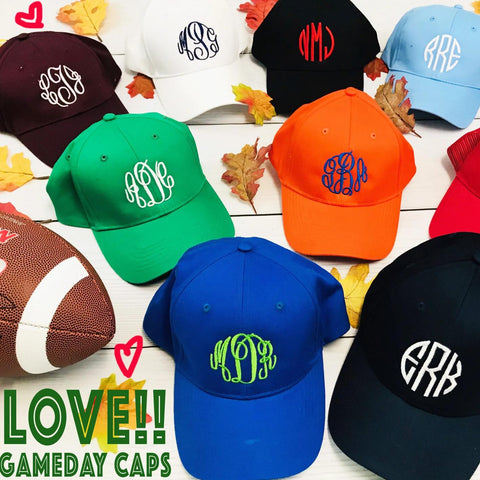 Embellish YOUTH Classic Monogram Caps in 15 colors | QUICK SHIP