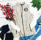 Embellish Heather Knit Sweater Vest | Monogrammed