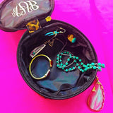 TWO Embellish CUSTOM Travel Round Jewelry Case