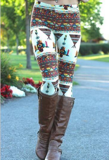 Embellish Stylish Print Stretch Leggings