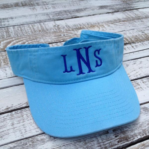Adult Cotton Twill Visor | Monogrammed