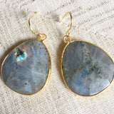 Semi-Precious Stone Laborodite Drop Earrings