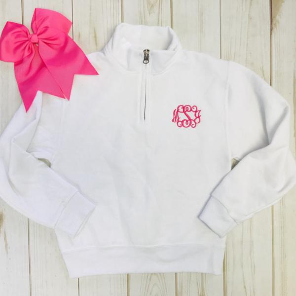 Embellish YOUTH Classic Monogram Zip Pullover