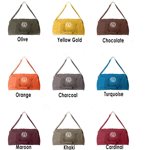 Embellish Classic Large Duffel in 10 Colors | Monogrammed