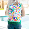 Embellish Bright Leopard Print Cooler Back Pack Tote | Monogrammed