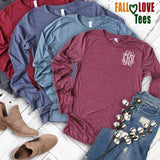 Embellish Fall Long Sleeve Tee | Monogrammed