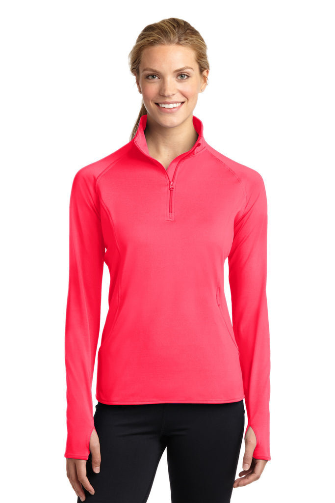 Embellish Ladies Monogrammed Performance Pullover with Front Pocket Pouch and 1/4 Zip