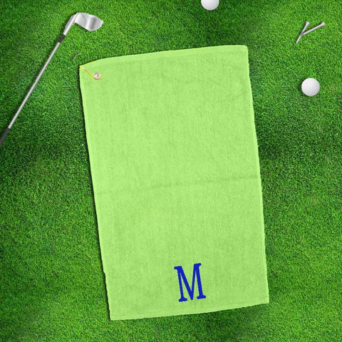 Monogram Golf Towel in Fifteen Color Options | QUICK SHIP