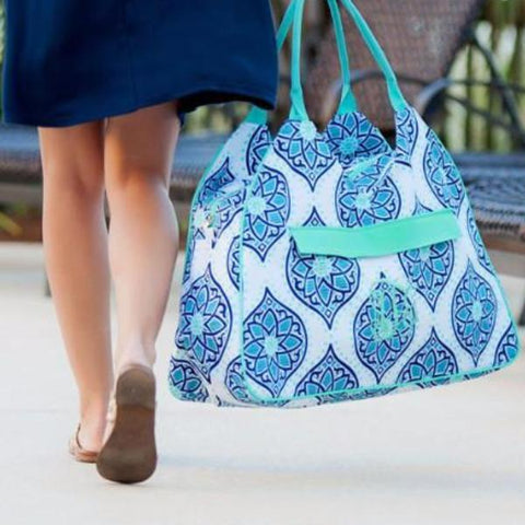Embellish Oversized Playful Print Beach Bag