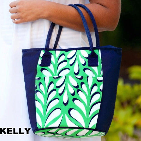 Embellish Monogrammed Insulated Cooler Totes in Five Playful Print Designs | QUICK SHIP